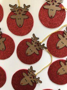 Rentier, Renntier, Weihnachtsbaumtraum, Weihnachtsbaum-Traum, basteln für Weihnachten